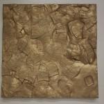 "Jocelyn Foye, Biff (2011) polyurethane resin, gold paint, 28.75"" x 27.5"