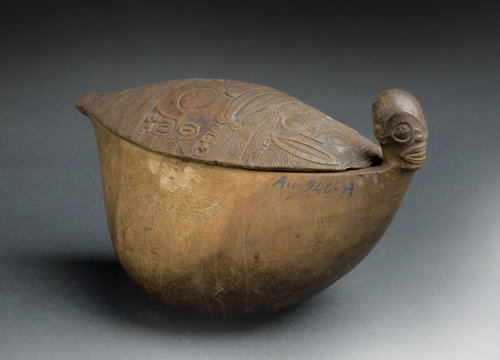 Lidded Bowl (Kotue or 'otue), 19th Century, Marquesas Islands, French Polynesia. Wood
