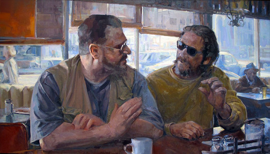 Joe Forkan, The Incredulity of Saint Thomas (after Caravaggio), 2014, from The Lebowski Cycle, oil on linen